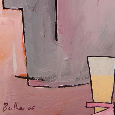 Anisette / acrylique et collage et sur toile / 50x70cm / 2006Olivier Barthe