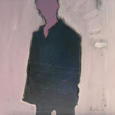 Sans visage / acrylique et collage et sur toile / 70x70cm / 2005Olivier Barthe