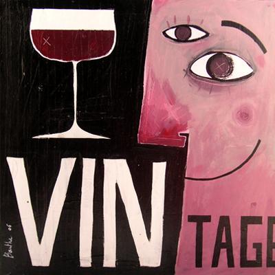 Vintage / acrylique et collage sur toile / 70x70cm / 2006Olivier Barthe Vendu