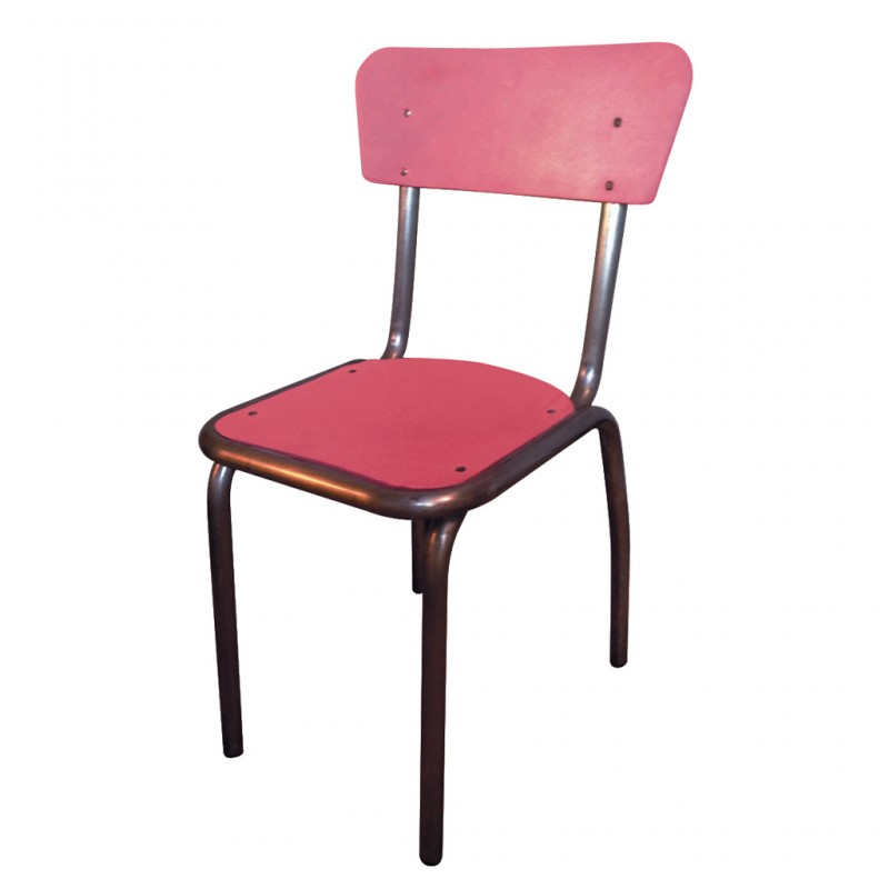 Chaise maternelle rose r tro boutique for Chaise 50 euros