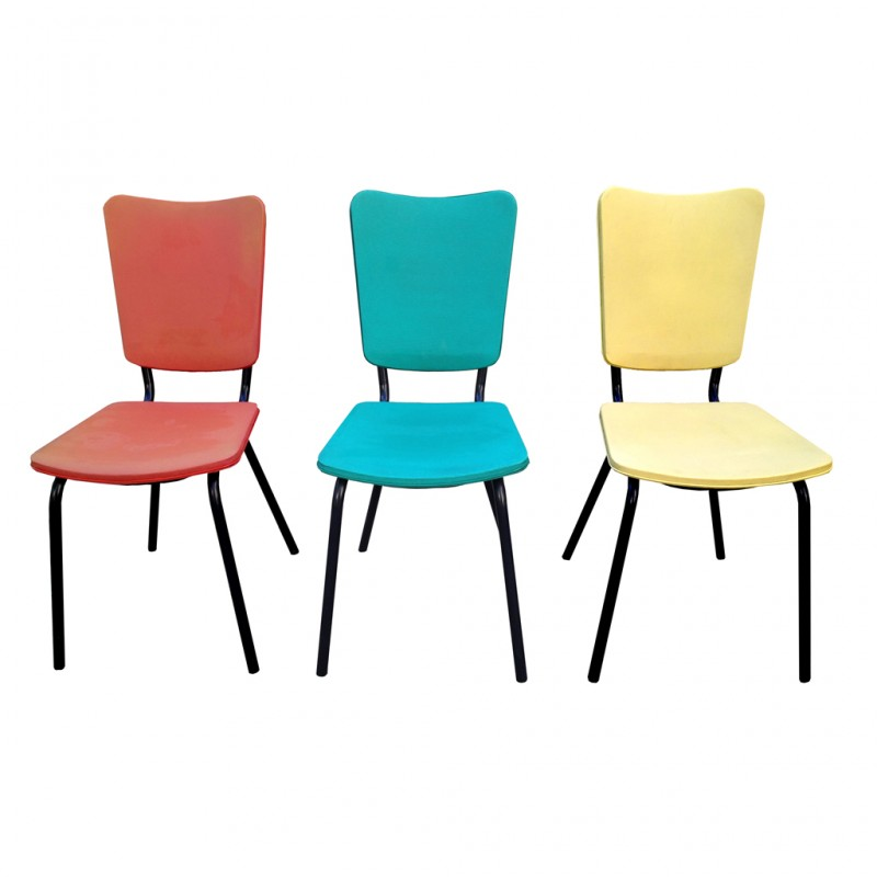 Chaises vintage r tro boutique for Chaise de cuisine jaune