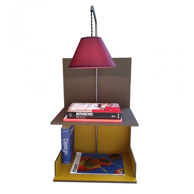 Table de chevet ou d'appoint avec luminaire potence.