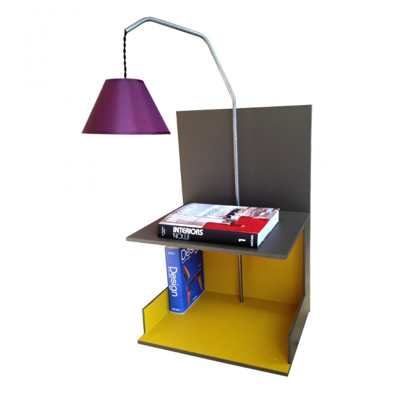 Table de chevet esprit industriel r tro boutique - Lampe de table de nuit ...