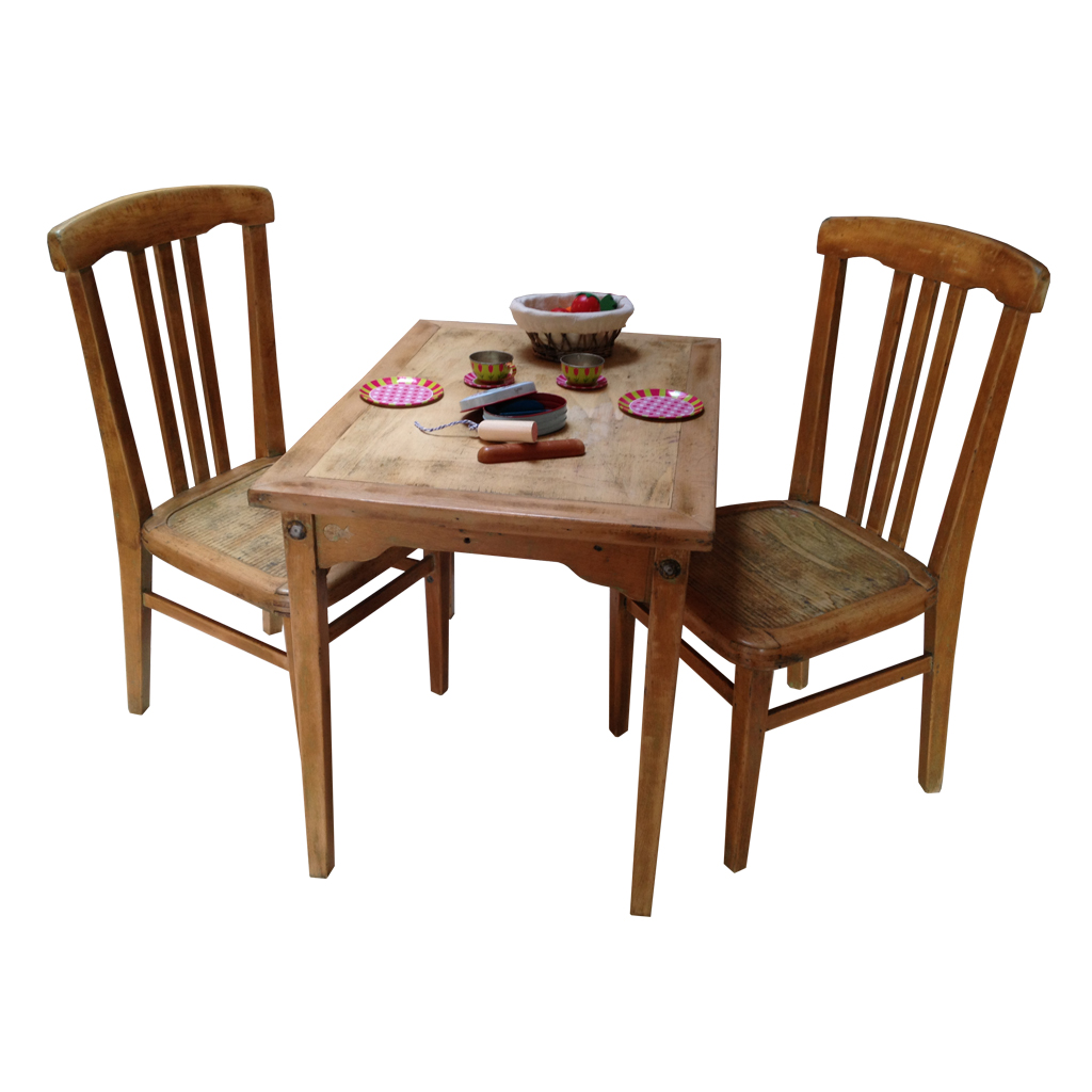 Ensemble table et chaises enfant r tro boutique for Table chaise bois