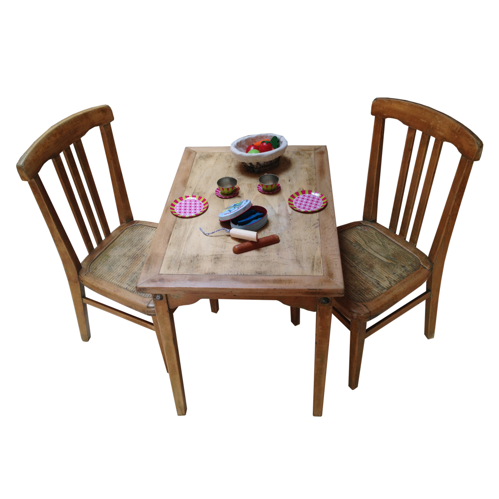 Ensemble table et chaises enfant r tro boutique for Table en bois et chaise