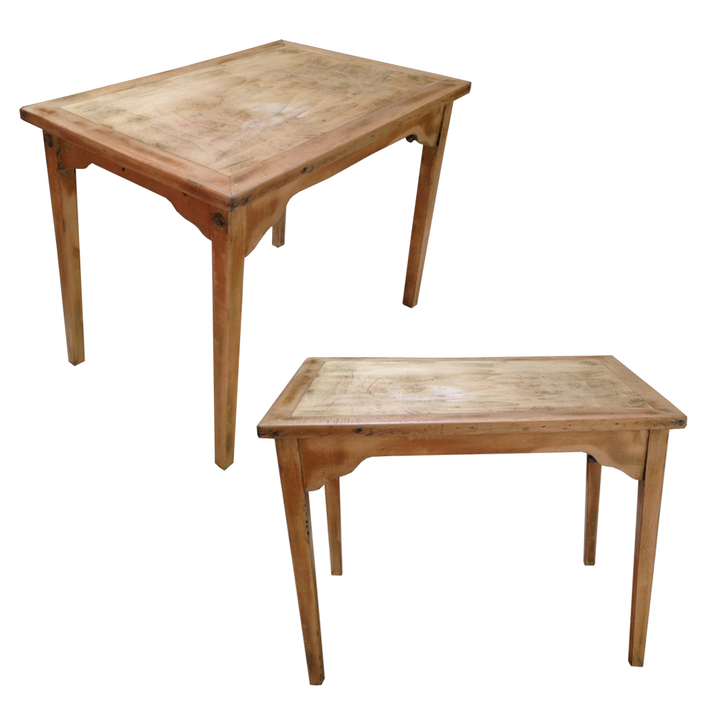 Ensemble table et chaises enfant r tro boutique for Table de cuisine rectangulaire en bois