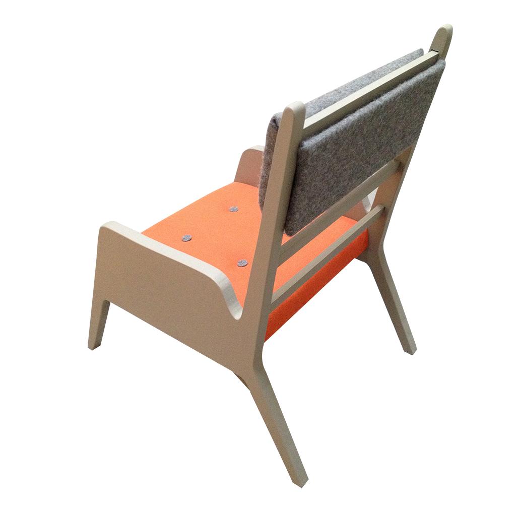 fauteuil comme papa orange
