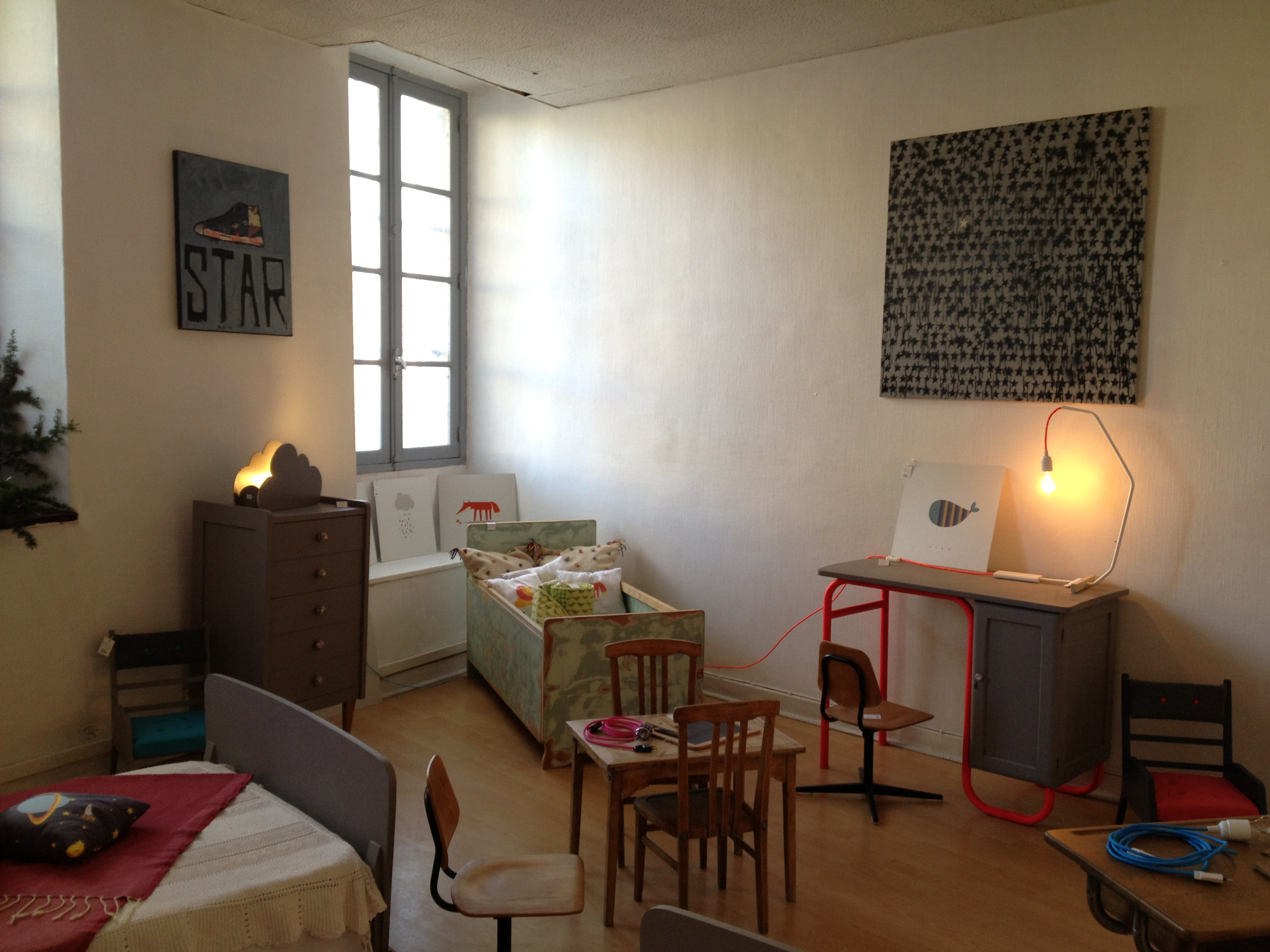 chambre enfant vintage r tro boutique. Black Bedroom Furniture Sets. Home Design Ideas